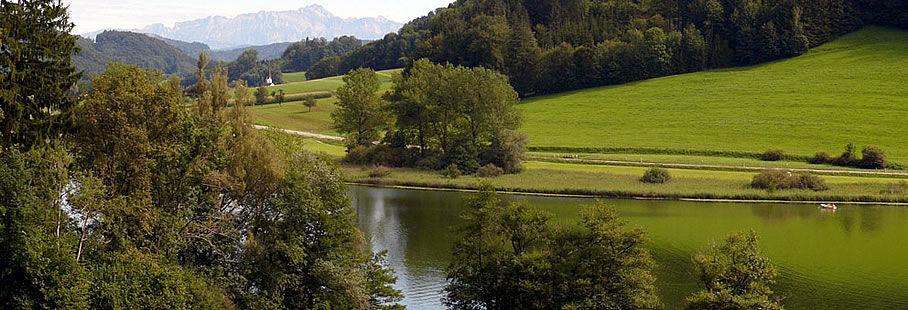Bichelsee mit Sicht auf den Alpstein
