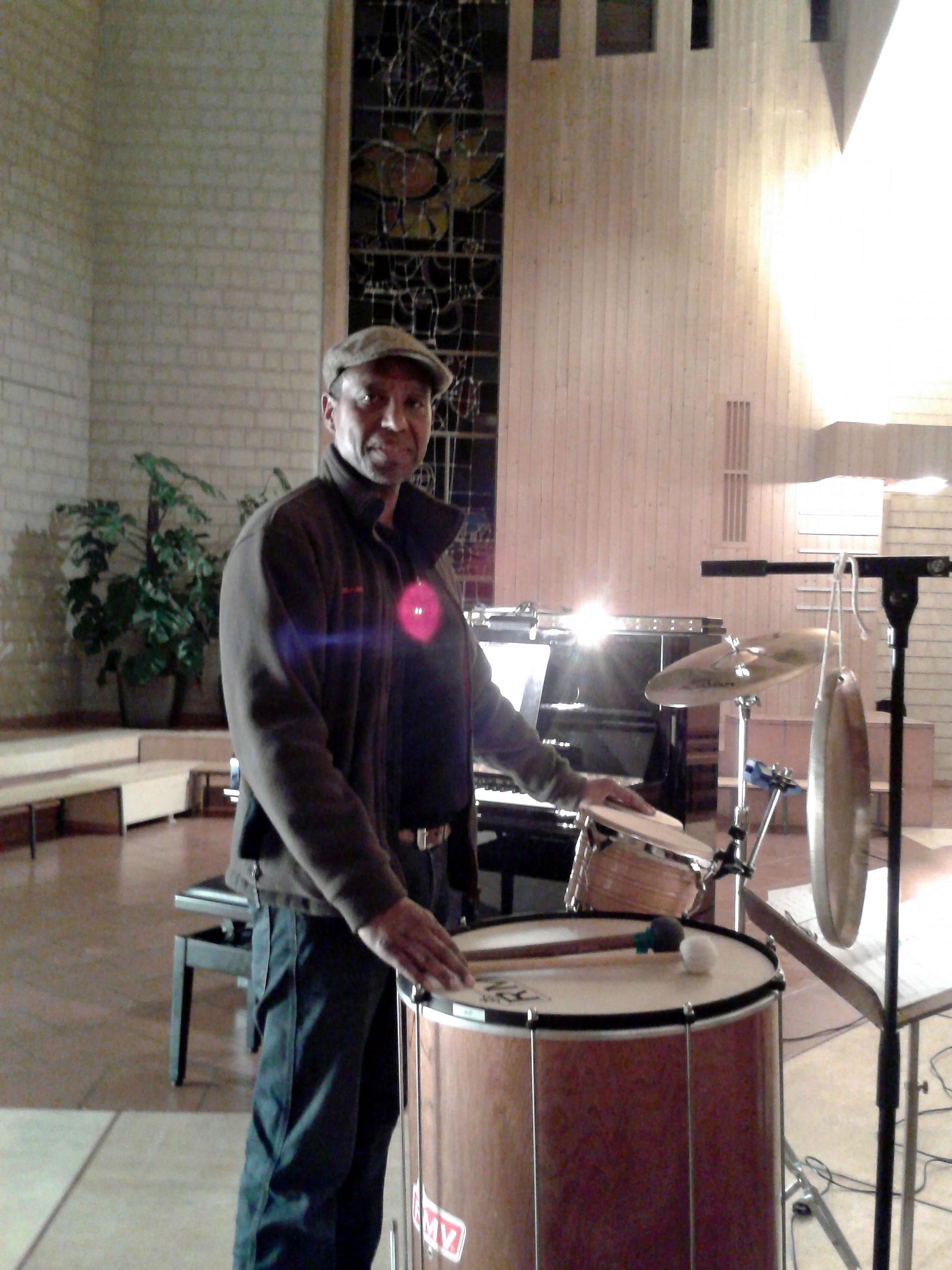 Mark Brazil in church