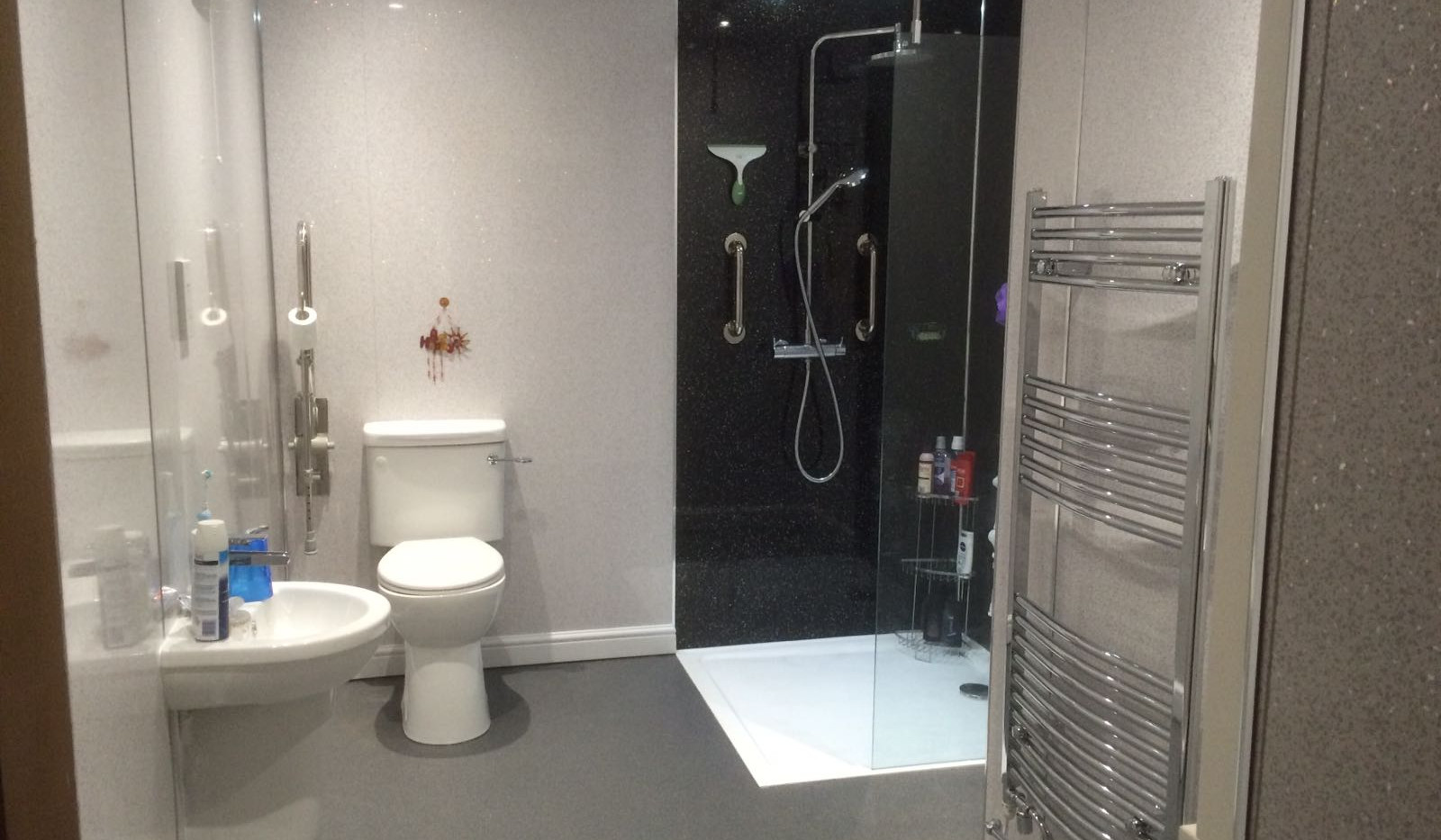Low level shower 3, Ability Bathing, Boston, Lincolnshire