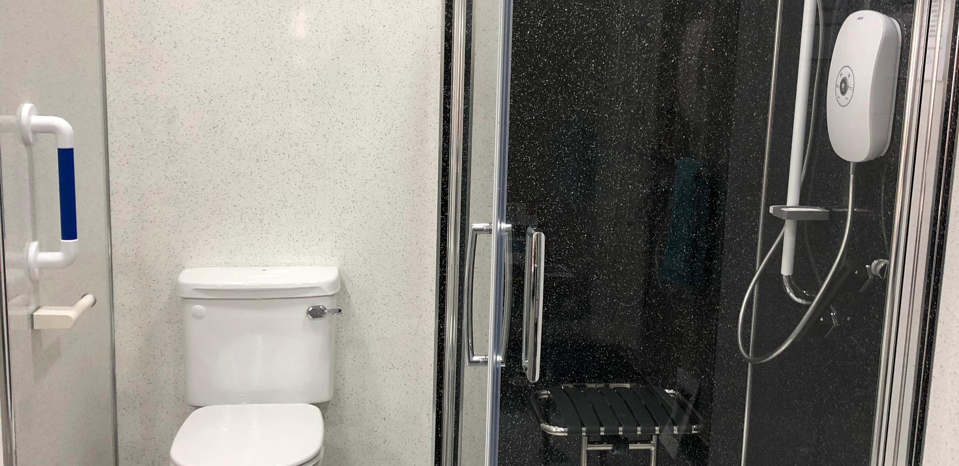 low level shower showroom