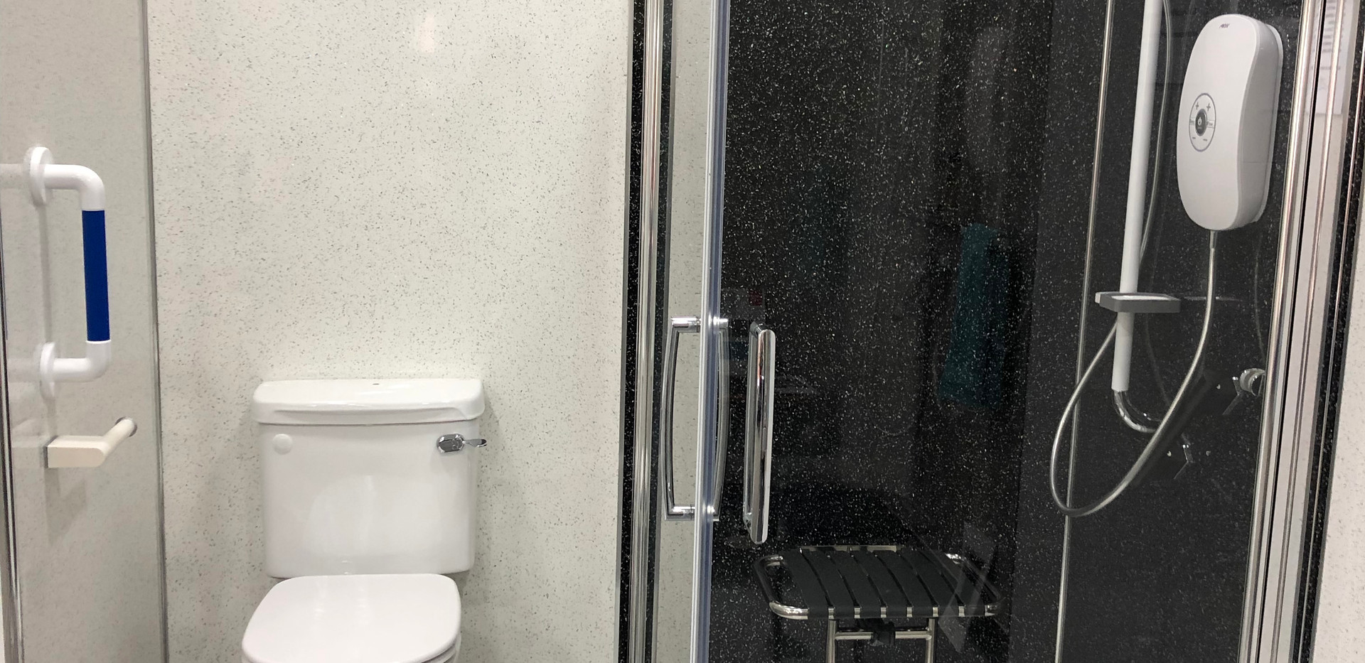low level shower showroom