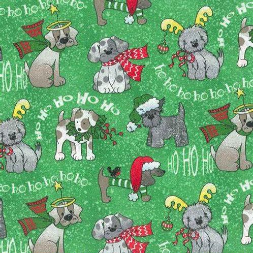 HoHoHo Dogs on Green