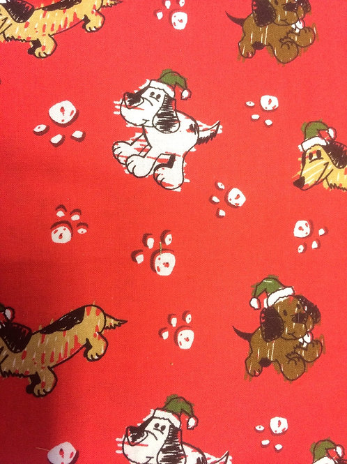 Dogs with Green Christmas Hats