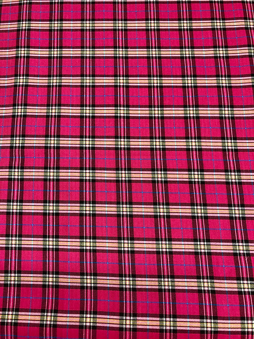 Hot Pink Tartan Plaid