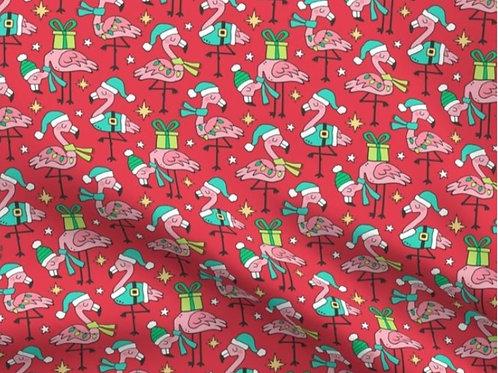 Tiny Christmas Flamingo