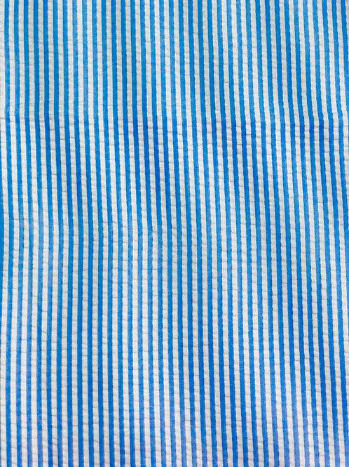 Blue Seersucker