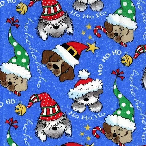 HoHoHo Dogs on Blue