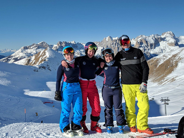 Eliza, Babs, Mckenna and CK in their Kapeka gear Italy 2019