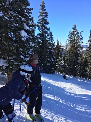 CK and Jan freeskiing Colorado 2018