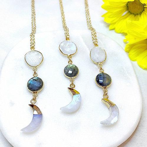 Moon Goddess Necklace (Gold)