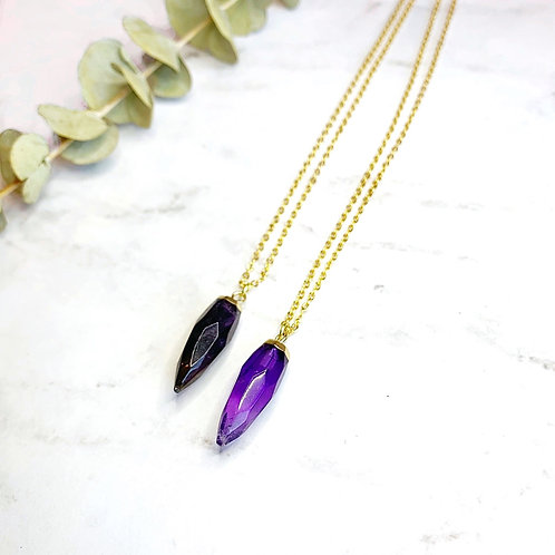 Amethyst Point (Gold) Necklace