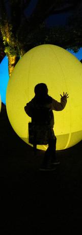 光のアートと遊ぶ