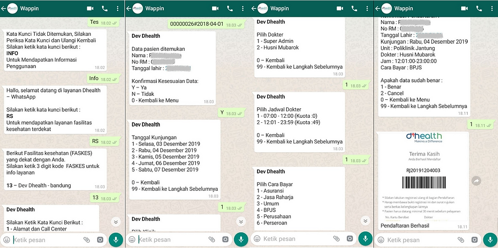 Pendaftaran Pasien via Whatsapp Business
