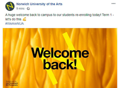 Featured on Norwich University of the Arts' Social Media!