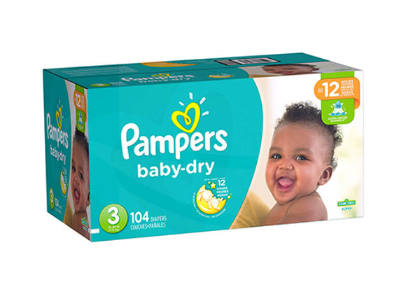 Panales Baby Dry Talla 3 Pampers Caja de 104 panales