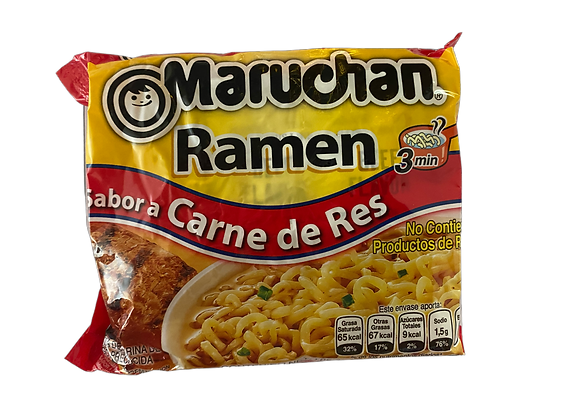 Sopa de Fideos Carne de Res Maruchan paquete 85gr
