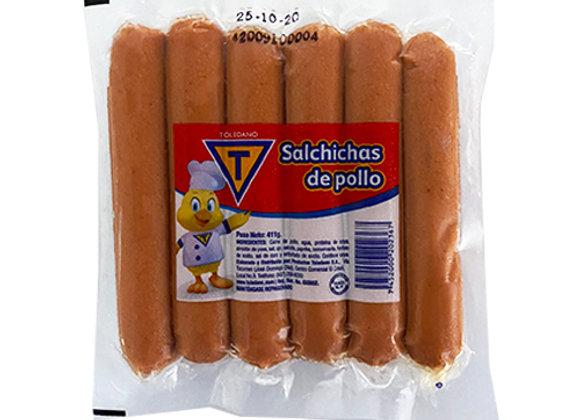 Salchichas de Pollo Toledano (11 unidades - 411 gr)