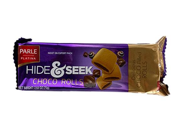 Galletas Choco Rolls Hide&Seek Parle (paquete grande de 75gr)