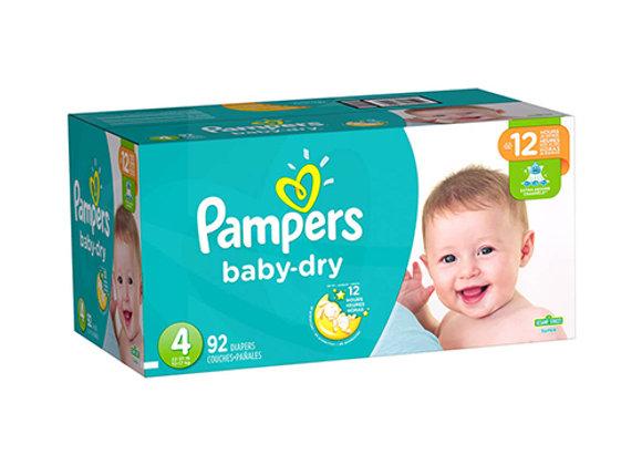 Panales Baby Dry Talla 4 Pampers Caja de 92 panales