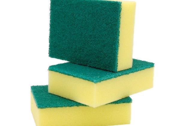 Esponja con Brillo (Paquete de 3 unidades)