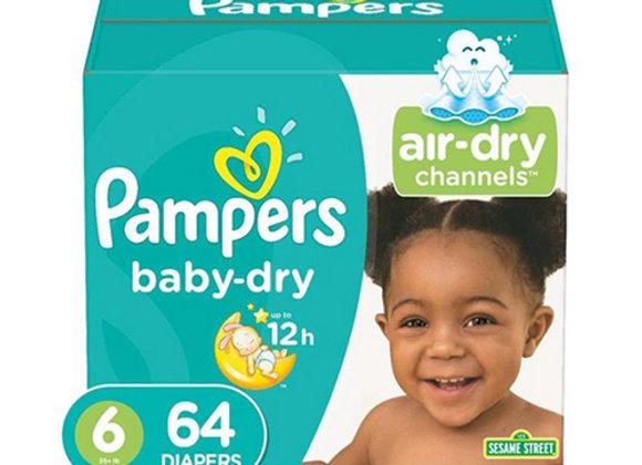 Panales Baby Dry Talla 6 Pampers Caja de 64 panales