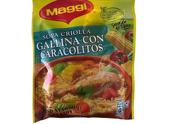Sopa Criolla Gallina con caracolitos 60g