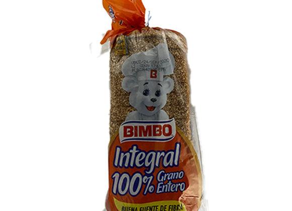 Pan Molde Integral 100% Grano Entero Bimbo