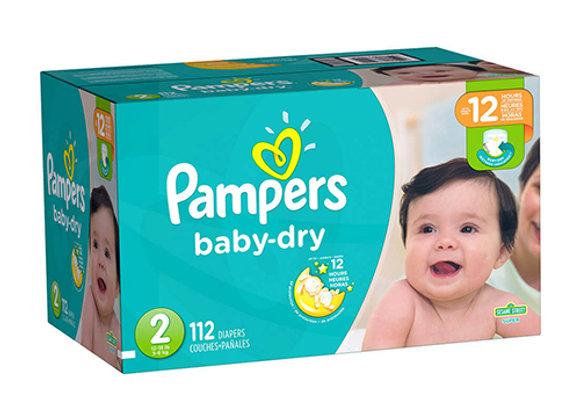 Panales Baby Dry Talla 2 Pampers Caja de 112 panales