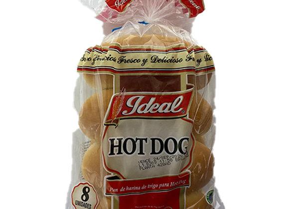 Pan de Hot Dog Ideal 8 Unidades