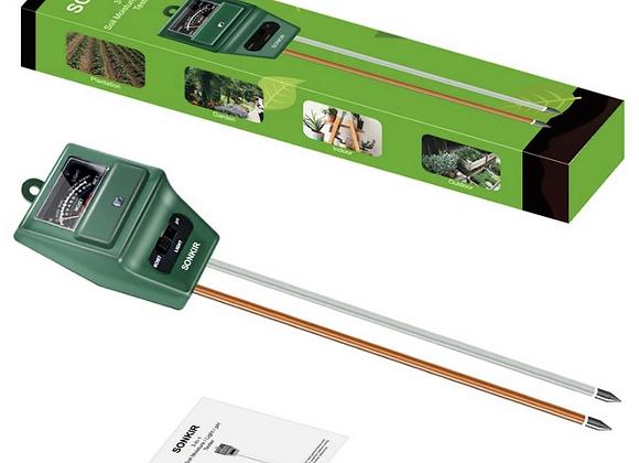Medidor de pH del suelo, 3 en 1, medidor de humedad / luz / pH del suelo