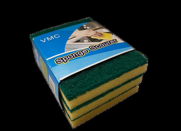 Esponja pequena con Brillo (Paquete de 3 unidades)