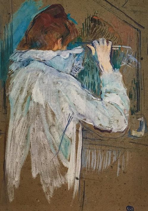Henri de Toulouse-Lautrec, Woman Cutting her Hair