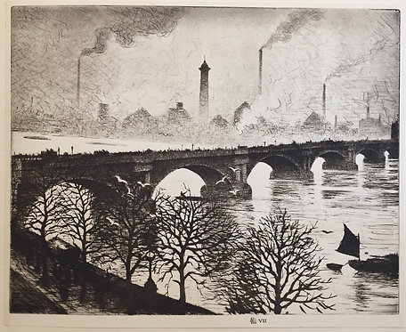 CRW Nevinson, Waterloo Bridge from a Savoy Window