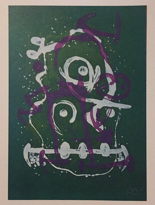 Joan Miro, Uneducated, Green and Violet