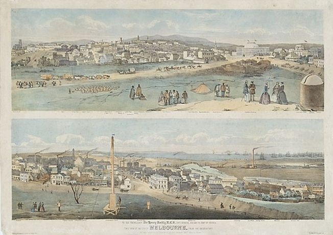 George Rowe, View of the City of Melbour