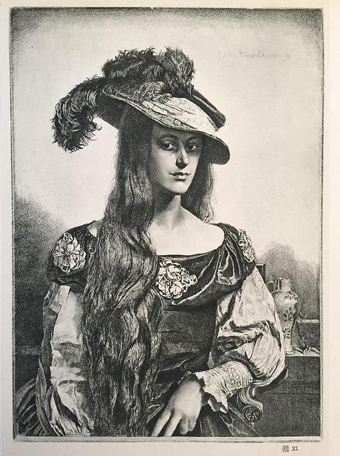 G L Brockhurst, The Black Silk Dress