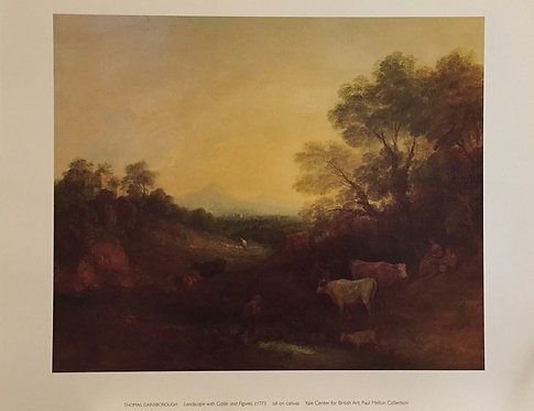 Thomas Gainsborough, Landscape with Cattle and Figures