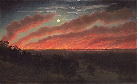Eugène_von_Guérard,_Bush_fire_between_Mo