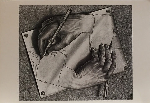 M C Escher, Drawing Hands, January 1948