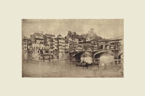 Joseph Pennell, On the Arno, Florence