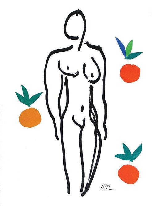 Matisse -  Lithograph - Nu aux Oranges