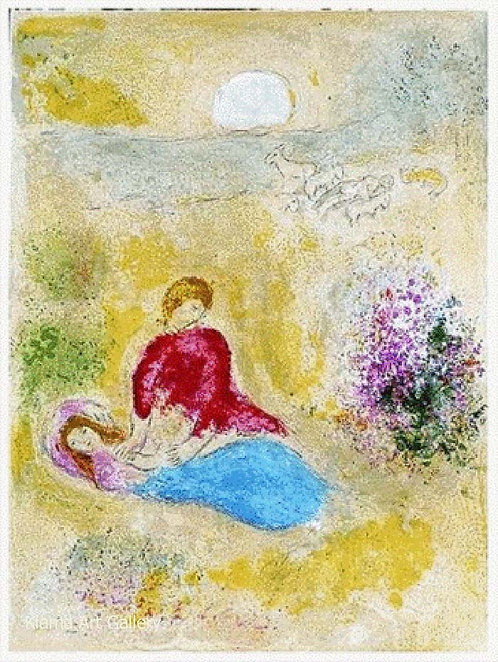 Chagall Daphnis and Chloe 1977 Print 320mm x 240mm The Swallow