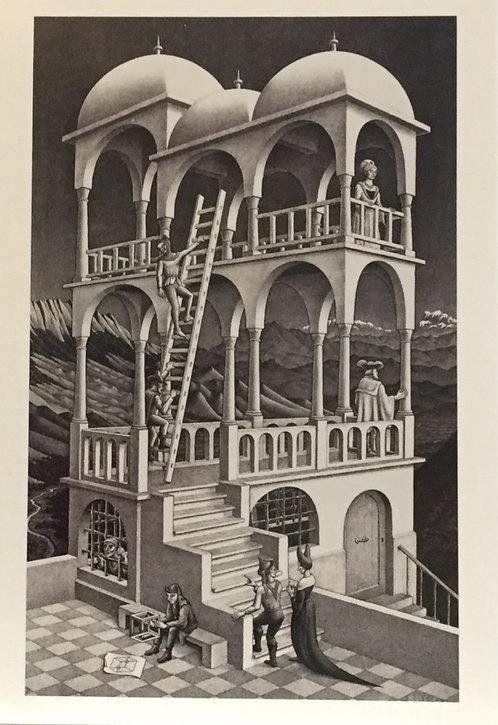 M C Escher, Belvedere May 1958