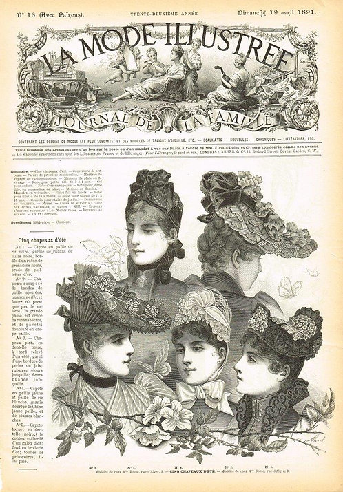 La Mode Illustree 1891 Illustration