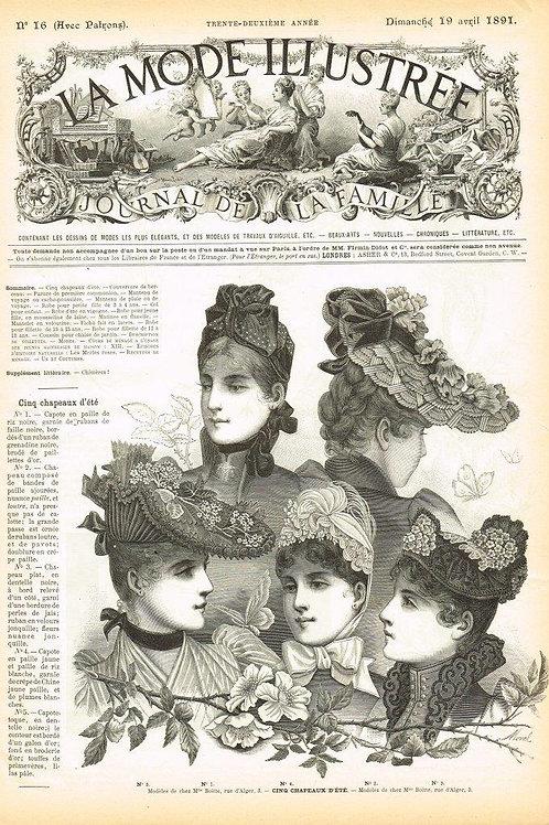 La Mode Illustree 1891 Illustration