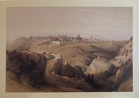 David Roberts Jerusalem from the Mount of Olives