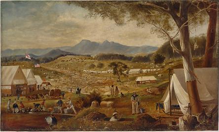 Edward Roper, Gold diggings, Ararat, c.1
