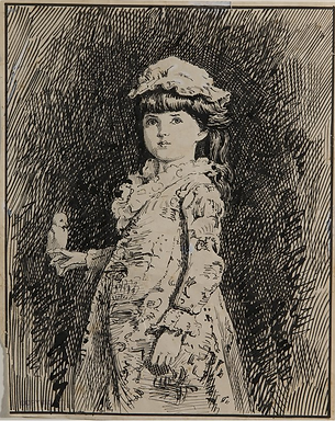 Emma Minnie Boyd, Girl with Parrot, c189