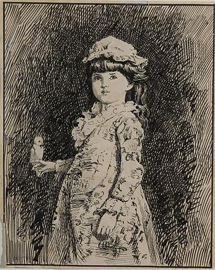 Emma Minnie Boyd, Girl with Parrot, c189