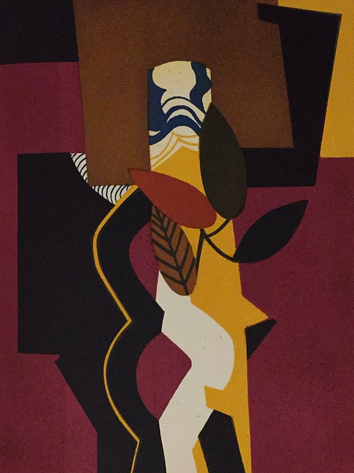 Andre Minaux, Bouquet D' Automne, Original Lithograph